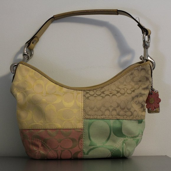 Spring Coach Colour Block Shoulder Bag